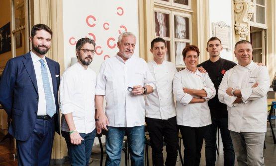 Cinque dei sette grandi chef coinvolti nel progett