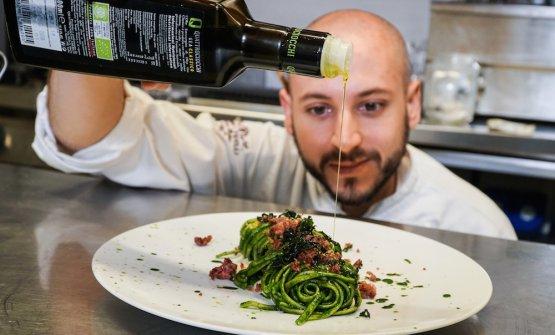 Andrea Perini, chef del ristorante Al 588di Bagn