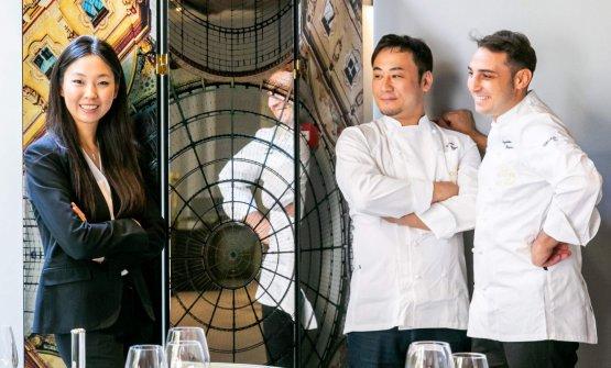 Giulia Liu congli chefKeisuke KogaeGuglielmo Paolucci