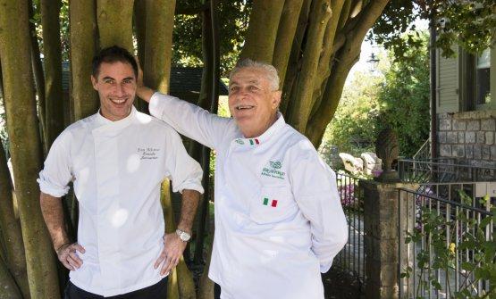 Ernesto con papà Alfonso Iaccarino(fotoS. Scatà)