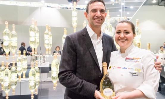 Lo chef de cave Fre�de�ric Panaïotis eCaterina Ceraudo alla prima edizione di Identità di Champagne