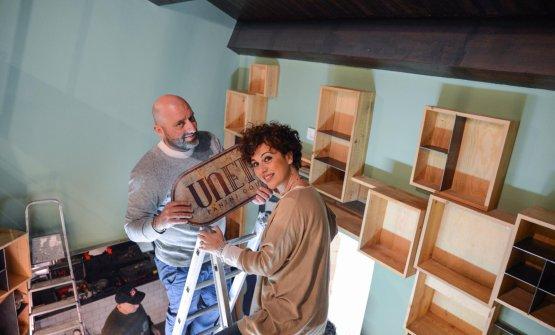 Lo Coco e Marilena Chiavetta quando ancora i lavori erano in corso
