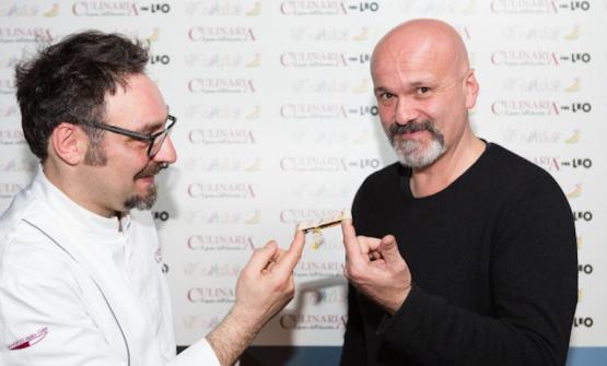 Paolo Lopriore e Andrea Salvetti nel 2016 a Culinaria