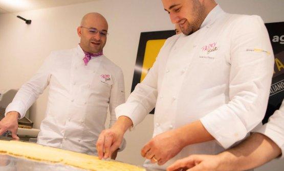 Massimo Pica con Federico Pisenti