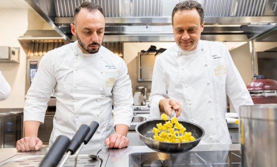 Marchini con Alessandro Rinaldi, chef di Identità Golose Milano