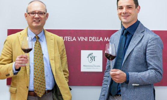 Il direttore Luca Pollini e il presidente Edoardo Donato, Conzorzio di Tutela vini della Maremma Toscana