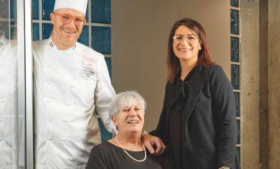 Lucca Cantarin, mamma Marina e la sorella Erica