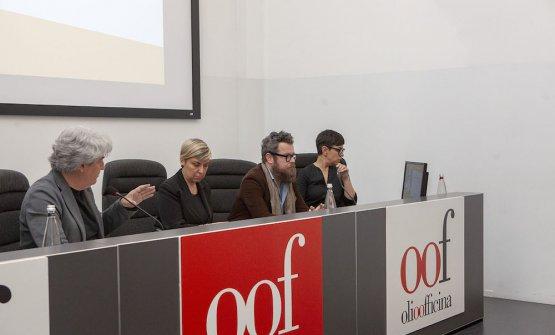 Luigi Caricato con Eugenio Boer e Cristiana e Serena Meladel Frantoio Sant'Agata di Oneglia
