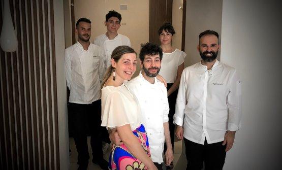 La squadra del ristorante Luigi Lepore a Lamezia T
