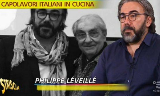 Gualtiero Marchesi stretto tra Philippe Léveillé e ancora Philippe Léveillé