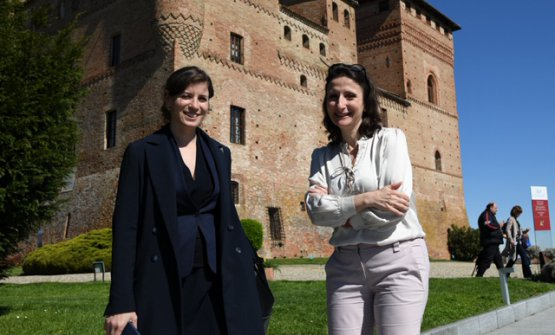 Anne-Sophie Pic, to the right, with sommelierPaz Levinson(this photo, like the following ones, are fromMaurizioMilanesio)