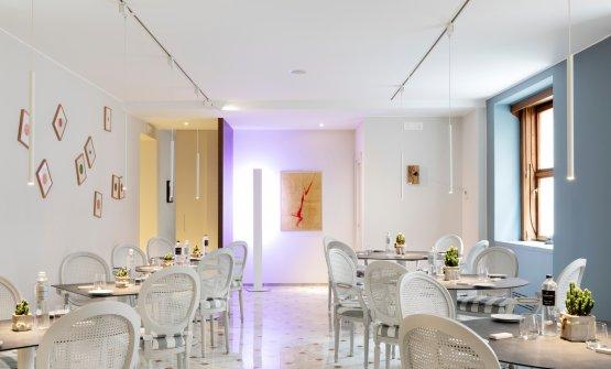 Una sala del ristorante I Due Buoi