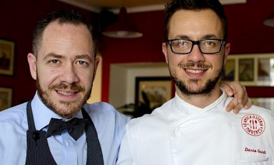 I fratelli Diego e Dario Guidi, ossia sala e cucina