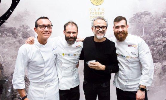 Gino Sorbillo, Christian Costardi, Massimo Bottura, Manuel Costardi