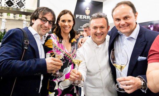 Tomaz Kavcic, Camilla Lunelli, Emanuele Scarello e Matteo lunelli