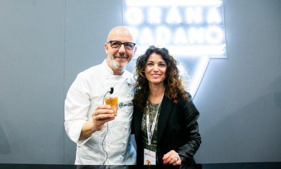 Franco Pepe ed Elisabetta Serraiotto,responsabile marketing ConsorzioGranaPadano