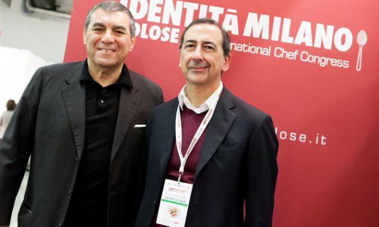 Giuseppe Sala con Claudio Ceroni, patron di MagentaBureau,il braccio imprenditoriale di Identità Golose