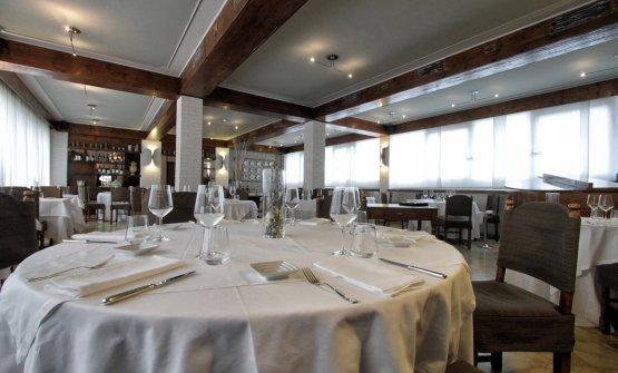 E la sala del ristorante gastronomicoManuelina
