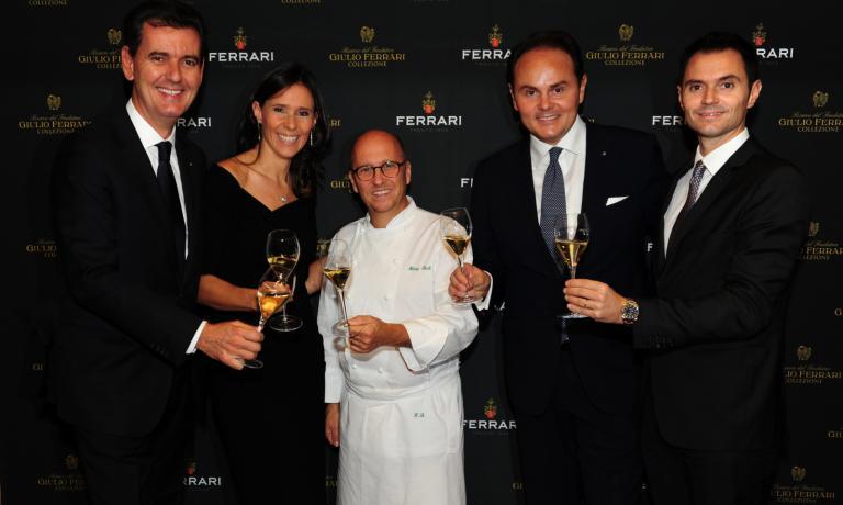Con lo chef del ristorante La Pergoladi Roma,H