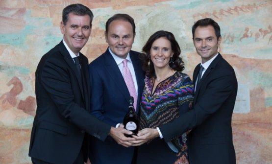 Marcello, Matteo, Camilla e Alessandro Lunelli