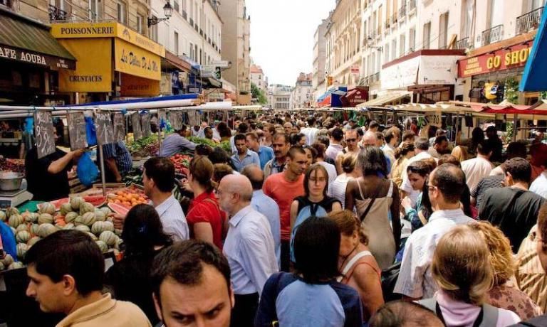 The marché d'Aligre one of the liveliest and most colourful markets in the French capital
