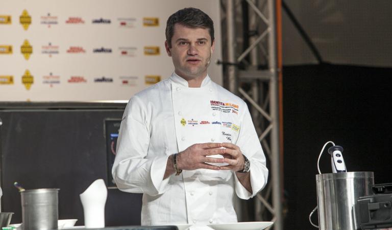 Enrico Bartolini a Identità Milano 2015: per Marchesi è il giovane chef più interessante, nonché colui che gli ha cucinato una delle migliori cene