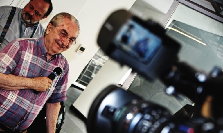 Gualtiero Marchesi in trasferta con Identità Golose all'Expo 2010 a Shanghai