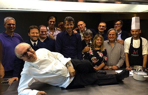 L'inaugurazione dell'Accademia Marchesi: il Maestro, circondato da molti dei suoi allievi,compiva80 anni. Era il 10 marzo 2010