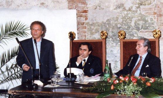 Marchesi con Toni Sarcina aun convegno sul vino, nel 1998