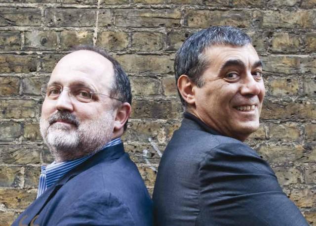 Paolo Marchi e Claudio Ceroni, ossia il creatore e curatoredi Identità Golose e il braccio imprenditoriale