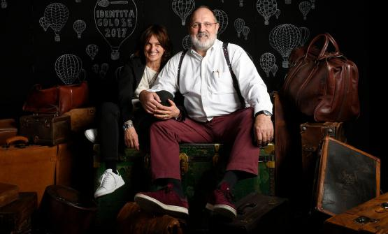 Paolo Marchi con la moglie Luisa Acciarri
