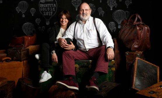 Paolo Marchi con Luisa Acciarri a Identità Milano