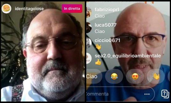 Marchi e Pepe insieme in diretta su Instagram. Ecc