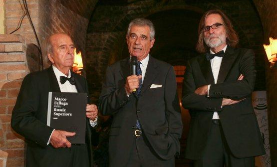 Walter Filiputti tra Marco e Roberto Felluga