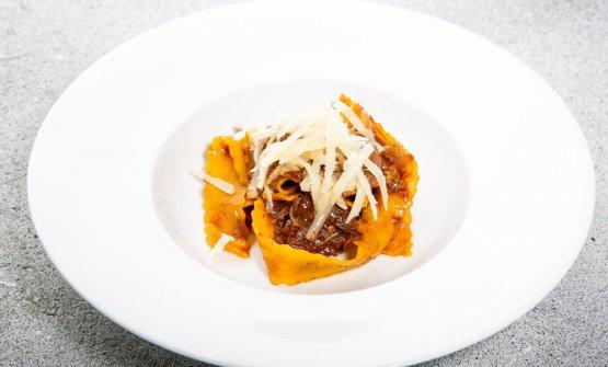 Pappardelle strascicate alla fiorentina con Parmigiano 30 mesi