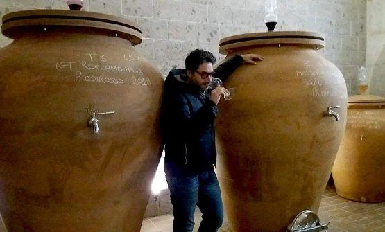 Mario Basco nell'anforaia