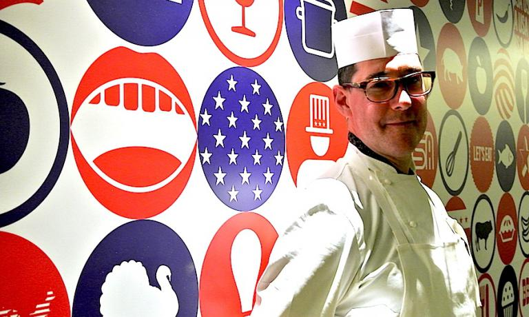 Mark Ladner, chef at Del Posto in New York playing an away game in Milan for Expo 2015