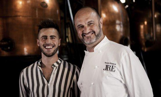Lo chef Renato Rizzardi e il sommelier Alex Dal Fior de La Locanda di Piero di Montecchio Precalcino (Vi)