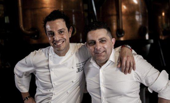 Secondi classificatilo chef Giorgio Bartolucci dell'Atelier Ristorante di Domodossola (Vb) e il bartender Vincenzo Brindisi