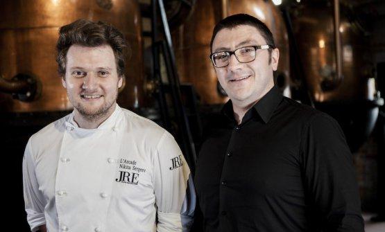 Terzi classificatilo chef Nikita Sergeev e il bartender Leonardo Niccià del ristorante L'Arcade di Porto San Giorgio (Fm)