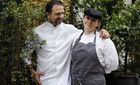 Massimiliano Mandozzi con Elnava De Rosa, pastry chef del Gagini