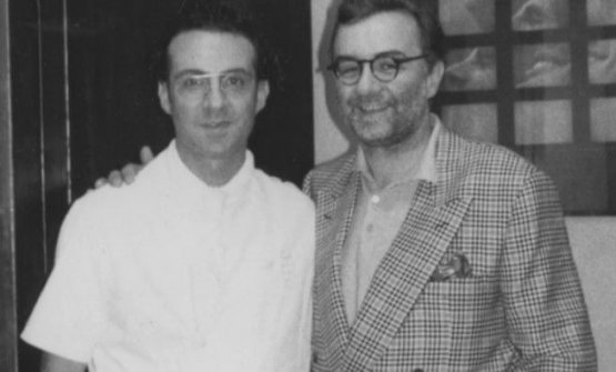 With Massimo Bottura in an archive photo
