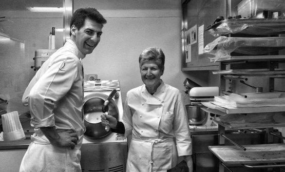 Massimiliano con sua madre Rita Chimetto, chef a sua volta