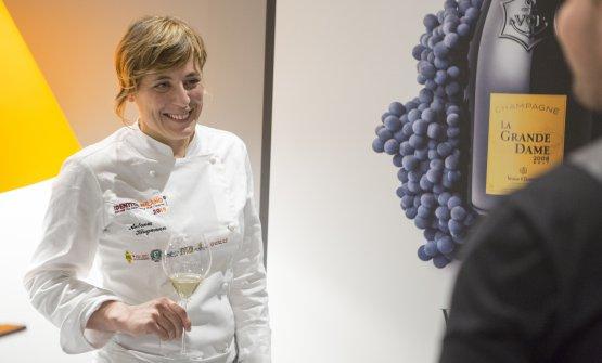Antonia Klugmann a Identità di Champagne - Atelier des Grandes Dames, la sezione di Identità Milano 2019in collaborazione con Veuve Clicquot