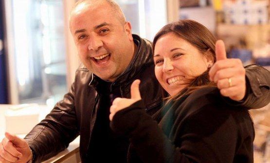 Luisa Del Sorbo, ideatrice delMed Cooking Congress, insieme a uno dei relatori, Vincenzo Guarino, chef del nuovoMandarin Oriental sul Lago di Como