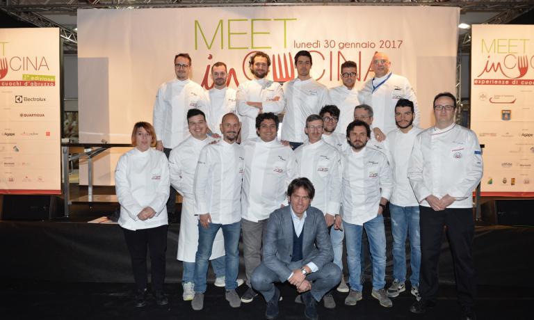 Il gruppo di chef a Meet in Cucina, mancava solo Romito