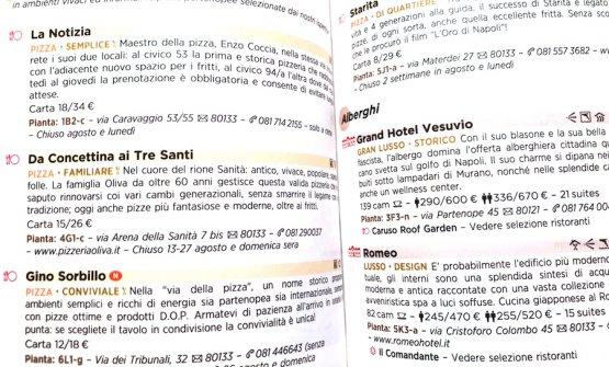 La voce pizzerie quando nella Michelin 2018 si arriva alle pagine dedicate a Napoli