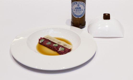Pecora, birra, ostrica e meladi Giuseppe Milana, chef del ristoranteUmamidi Roma