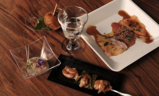 Una parte del menu studiato daWicky Priyan per il sake pairing