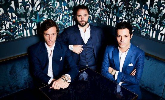 I tre soci di Pacifico:Jacopo Signani,Guillaume Desforges, LeonardoSignani